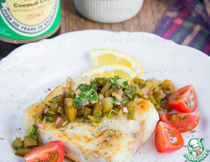 Рецепт: Жареная рыба с русской сальсой