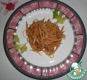 Всё, можно подавать. ПРИЯТНОГО АППЕТИТА! (на следующий день салат будет ещё вкуснее, если останется до завтра...)