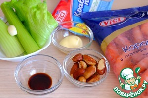 Ingredients for making salad