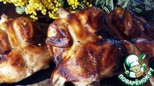 This quail under 1st marinade!