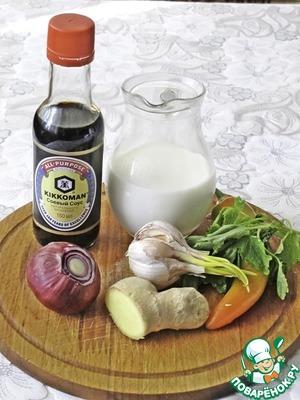 В блендер положить чили, очищенный от семян, лук, имбирь, чеснок и мелиссу. Измельчить.