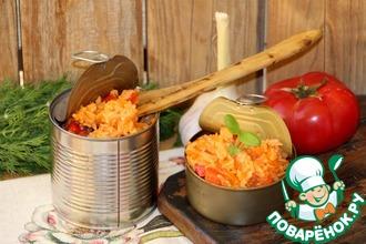 Рецепт: Рис с овощами Ужин дачника