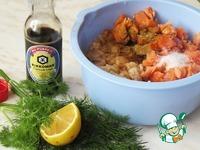 Колбаски из белой и красной рыбы ингредиенты