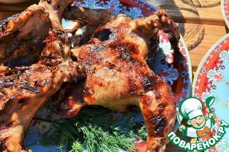Рецепт: Цыплята в соево-медовом маринаде