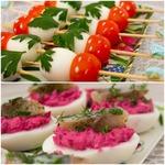 Пикантная закуска из яиц – кулинарный рецепт