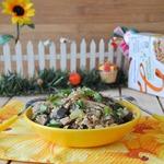 Теплый салат с гречкой Удачный