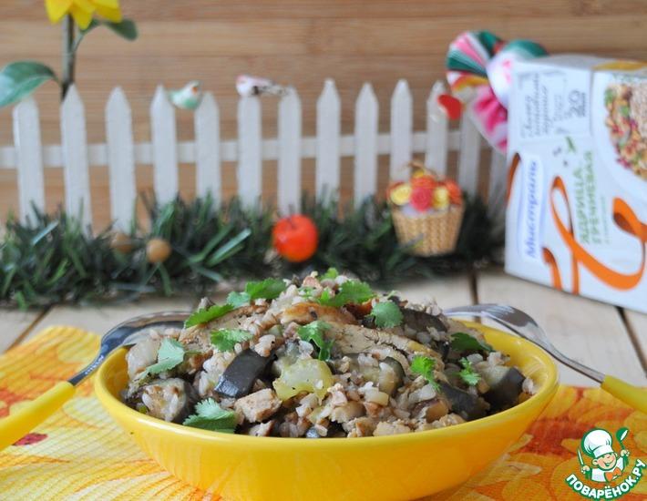 Рецепт: Теплый салат с гречкой Удачный