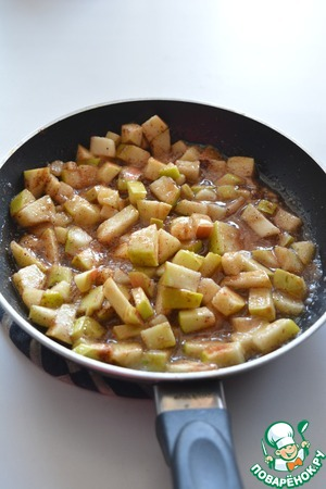 Add the sugar and cinnamon, cook until caramelized (about 5 minutes)