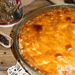 Пирог с картофелем, беконом и сыром