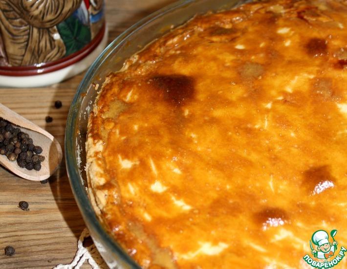 Рецепт: Пирог с картофелем, беконом и сыром