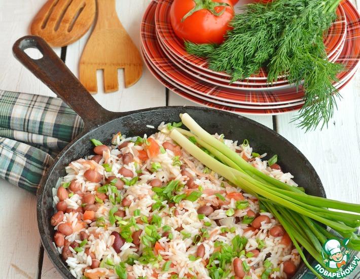 Рецепт: Быстрое рагу с рисом и фасолью
