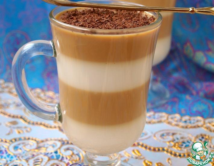 Рецепт: Молочно-кофейное полосатое желе