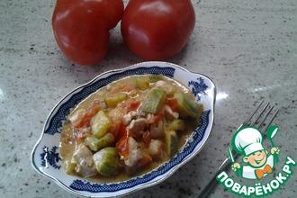 Рецепт: Быстрое рагу из кабачков и курицы