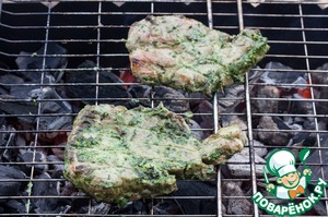 Cook on medium coals until tender (about 15 minutes). To give meat to cool slightly.