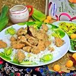 Курица карри в сливках с рисом