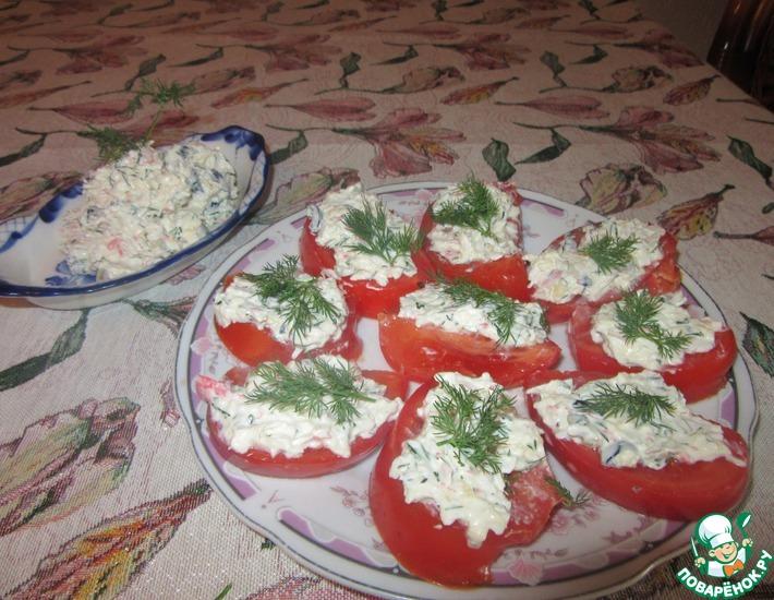Рецепт: Салат-намазка Остров краба