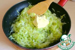 Затем добавить сливочное масло (70 гр.), тушить