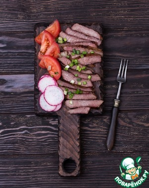 Remove steaks from heat and let rest 5-7 minutes. Then thinly slice, sprinkle with green onions and large sea salt. Serve with fresh vegetables.