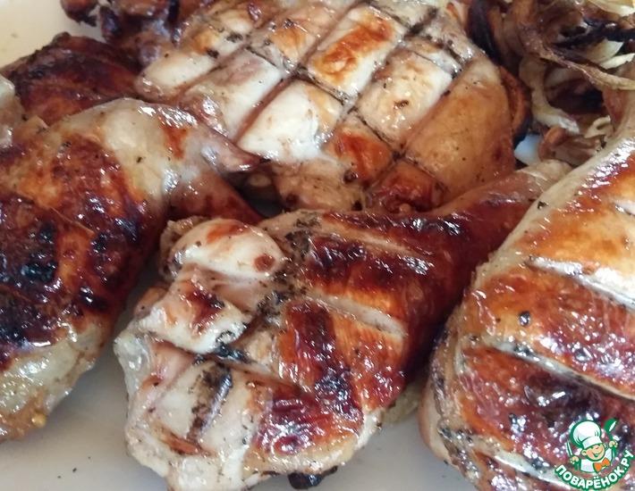 Рецепт: Куриный шашлык Дачный