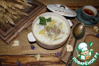Рецепт: Сливочный суп с молодой капустой