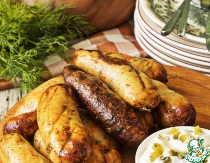 Рецепт: Колбаски из белой и красной рыбы