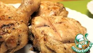 Курочка на мангале готовится достаточно быстро. При ее приготовлении, не забывайте периодически опрыскивать ее водой. Всем приятного аппетита и хорошего настроения!