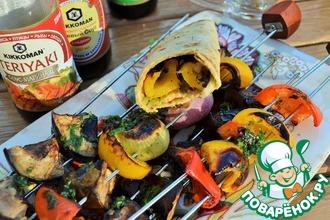 Рецепт: Печеные овощи в соевом соусе