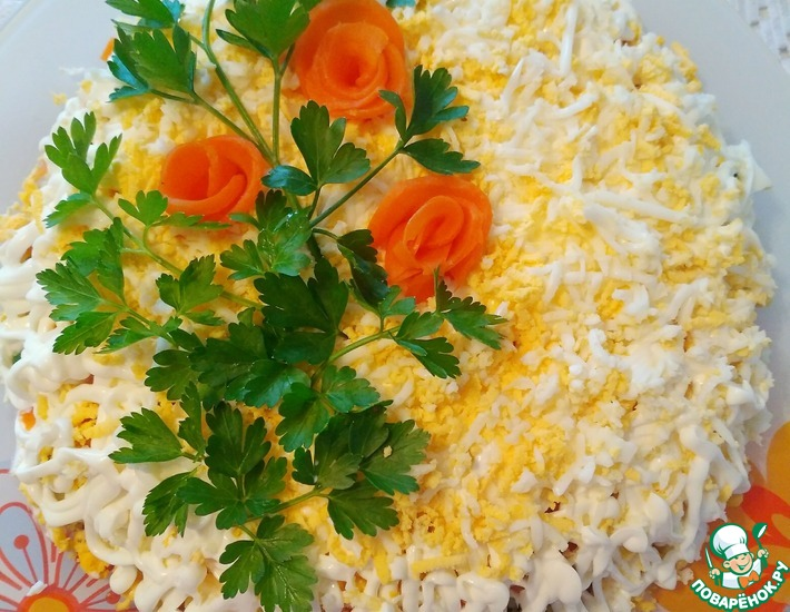 Рецепт: Салат Шпротка