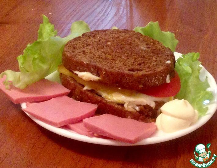 Рецепт: Бутерброд ланч на траве