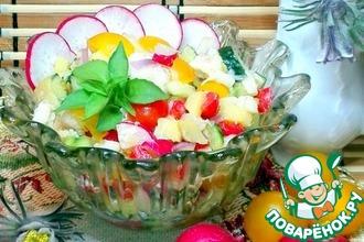 Рецепт: Салат с треской и овощами