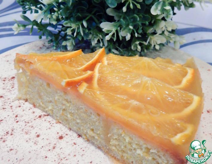 Рецепт: Быстрый торт-кекс Апельсиновый рай