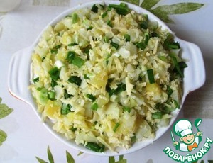 Выкладываем картофельный слой в форму. По желанию можно сверху выложить несколько кусочков сливочного масла.