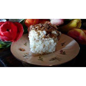 Рисовый десерт с заварным кремом