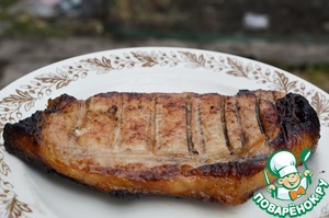 Fry on the grill until tender. Here and ready! Help yourself!