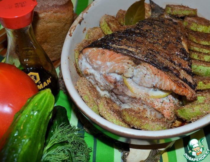 Рецепт: Лосось в соевом маринаде на гриле