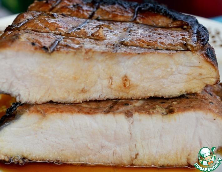 Рецепт: Пряная свиная корейка на гриле