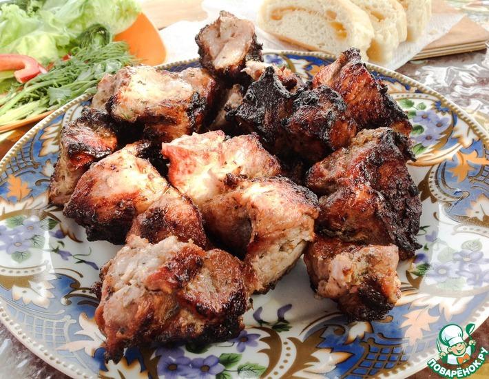 Рецепт: Шашлык в маринаде с киви