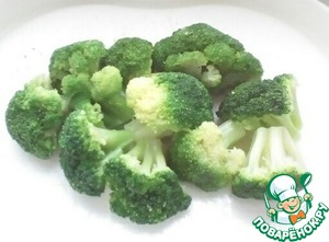 Broccoli cut into small florets.