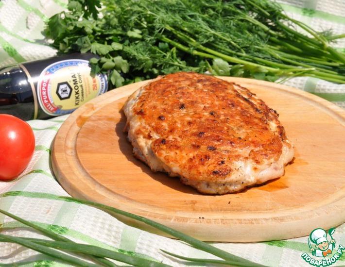 Рецепт: Слойки-гриль из куриных грудок
