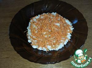 Затем слой моркови по-корейски.