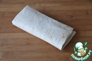 Turn pita bread into a roll envelope.