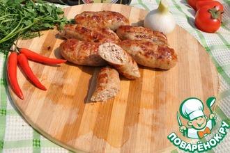 Рецепт: Куриные колбаски-гриль