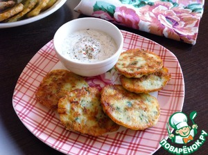 Ready pancakes serve and serve with cream sauce. Bon appetit!