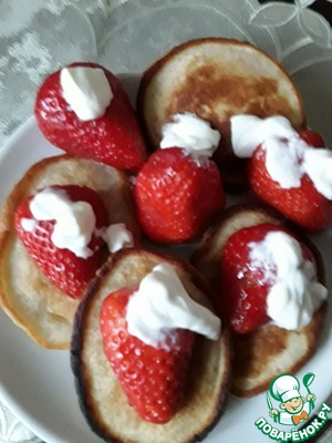 Serve them with sour cream, honey, fruit, ice cream, etc.