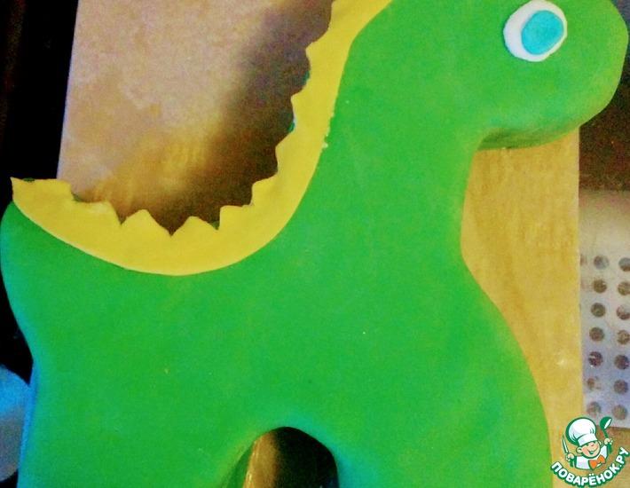 Рецепт: Детский торт Динозавр