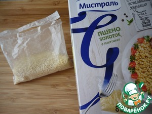 """For cooking I took the millet gold TM """"Mistral"""" bags, since in the country it is easy to cook.  Put down the bag of millet to boiling water and simmer for 25 minutes."""