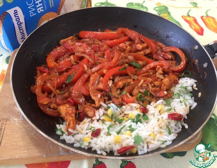 Рецепт: Мексиканская сковорода с рисом