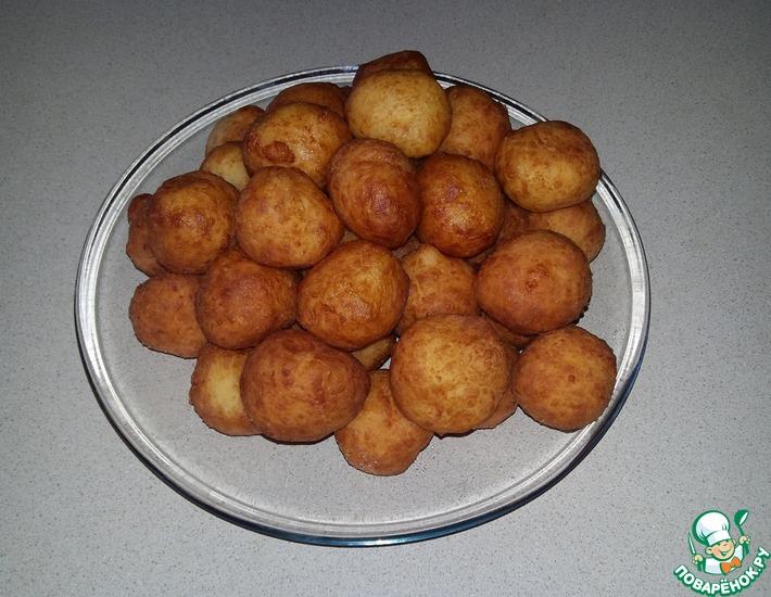 Рецепт: Сырно-чесночно-творожные шарики