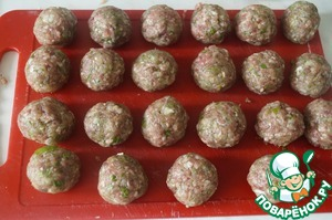 Generated from ready-made minced meat small meatballs.