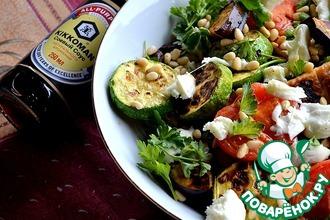 Рецепт: Средиземноморский теплый салат из овощей-гриль